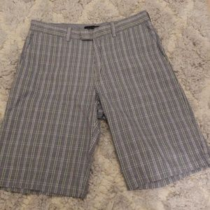 Banana Republic Aiden Slim Plaid Short